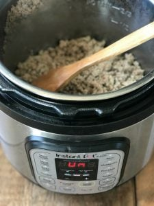 Prep ahead taco meat in the Instant Pot