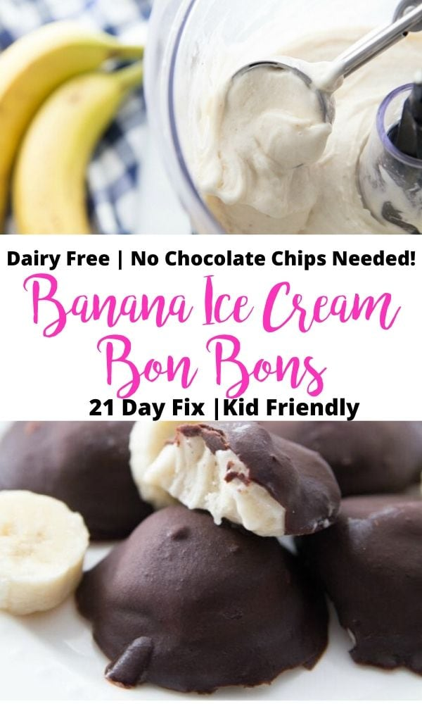 Pinterest Image for Banana Ice Cream with Text Overlay