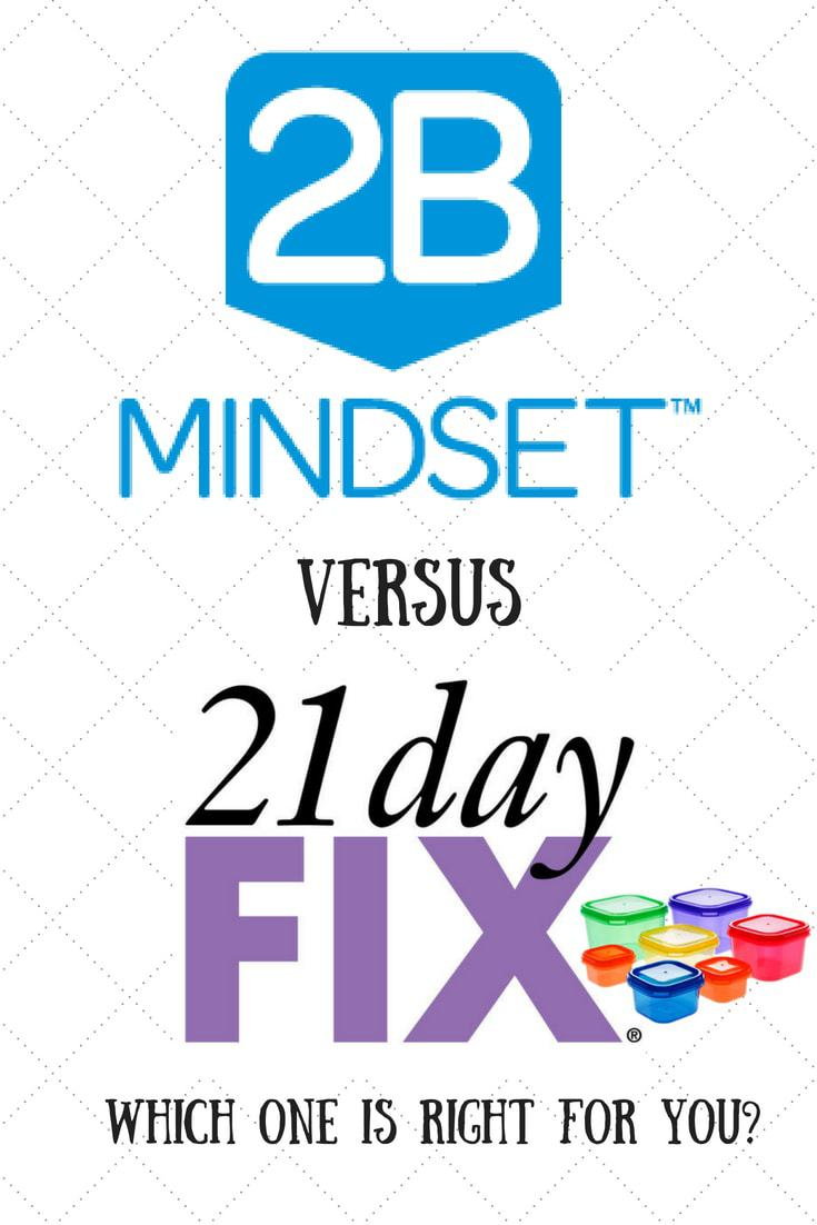 2B Mindset Versus the 21 Day Fix   Is the 2B Mindset Right for You