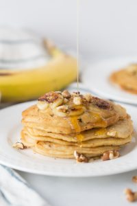 21 Day Fix Pancakes with Caramelized Bananas and Walnuts (Gluten free/Dairy free Option)  Confessions of a Fit Foodie