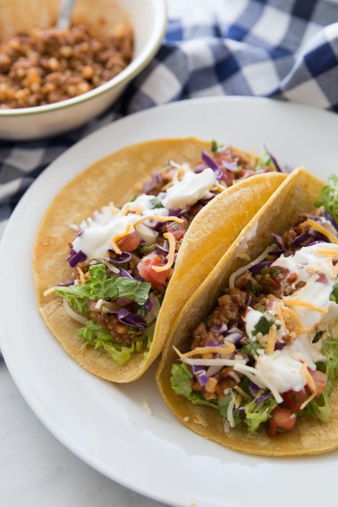 2 Soft Corn Tacos