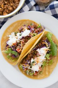 2 Healthy Tacos in Corn Tortillas