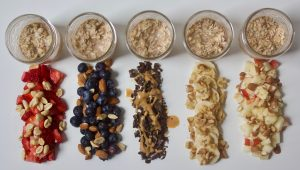 Classic Overnight Oats with 5 Different Toppings   Confessions of a Fit Foodie