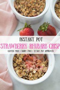 Pinterest Image Strawberry Rhubarb Crisp