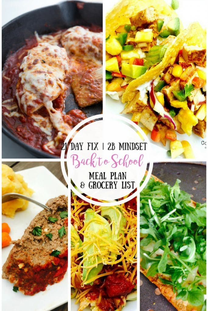 Pinterest Collage for Back to School Meal Ideas for the 21 Day Fix