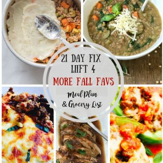 21 Day Fix Meal Plan & Grocery List {46} More Fall Favs Week 2 | LIIFT4 Launch