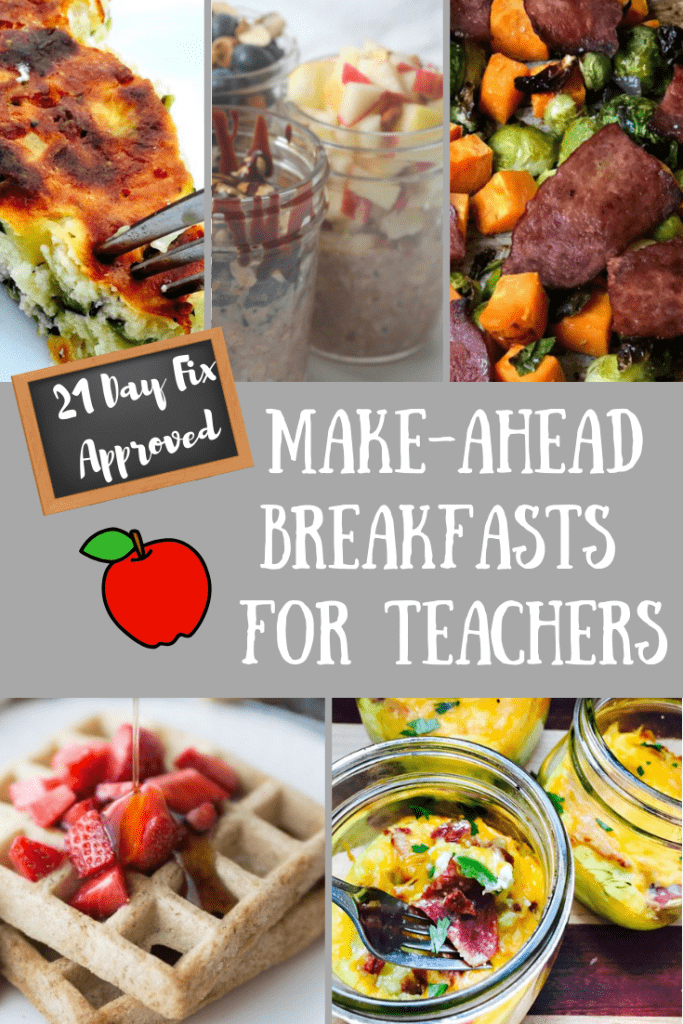 This list of 21 Day Fix Make Ahead Breakfasts for Teacher is great for anyone who wants to plan and prepare a healthy breakfast for those busy weekday mornings!
