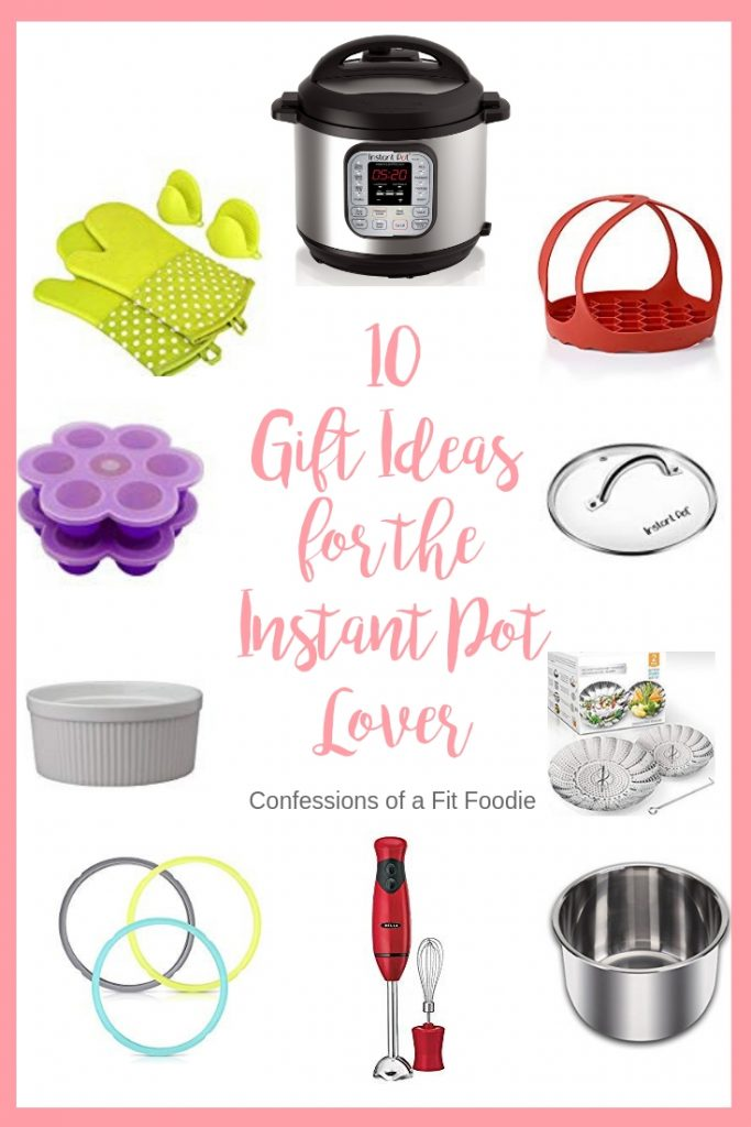 Looking for some Instant Pot Accessories for the Instant Pot lover in your life? Check out this post for ten of my FAVORITE gifts for Instant Pot Owners! Instant Pot Accessories | Instant Pot Gifts | Instant Pot Lovers | Instant Pot Recipes | Instant Pot Silicone Molds | Steamer Basket | Instant Pot Tools #instantpot #instantpotaccessories #instantpotgifts #confessionsofafitfoodie