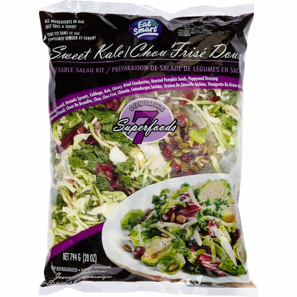 A bag of prepackaged salad mix found at Costco