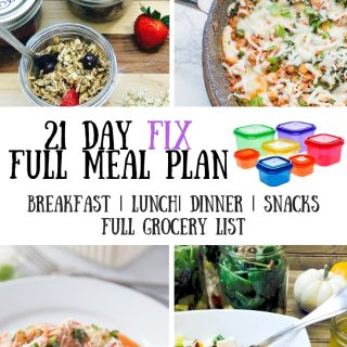 21 Day Fix Meal Plan & Grocery List {52} Jan-YOU-ary 5-Day Full Meal Plan | Printable