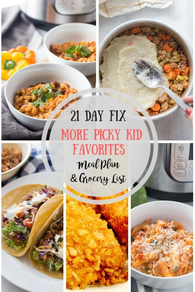 Looking for a 21 Day Fix Meal Plan that will make your picky kid happy and keep you on plan?  Check out this post with my picky kids' favorite dinners! 21 Day Fix Recipes | 21 Day Fix Meal Plan | 21 Day Fix Family Dinners | Picky Kid Dinner Ideas | Healthy Food for Kids | Healthy Family Dinners | Healthy Instant Pot Recipes | Family Friendly Meal Plan #21df #21dayfix #confessionsofafitfoodie
