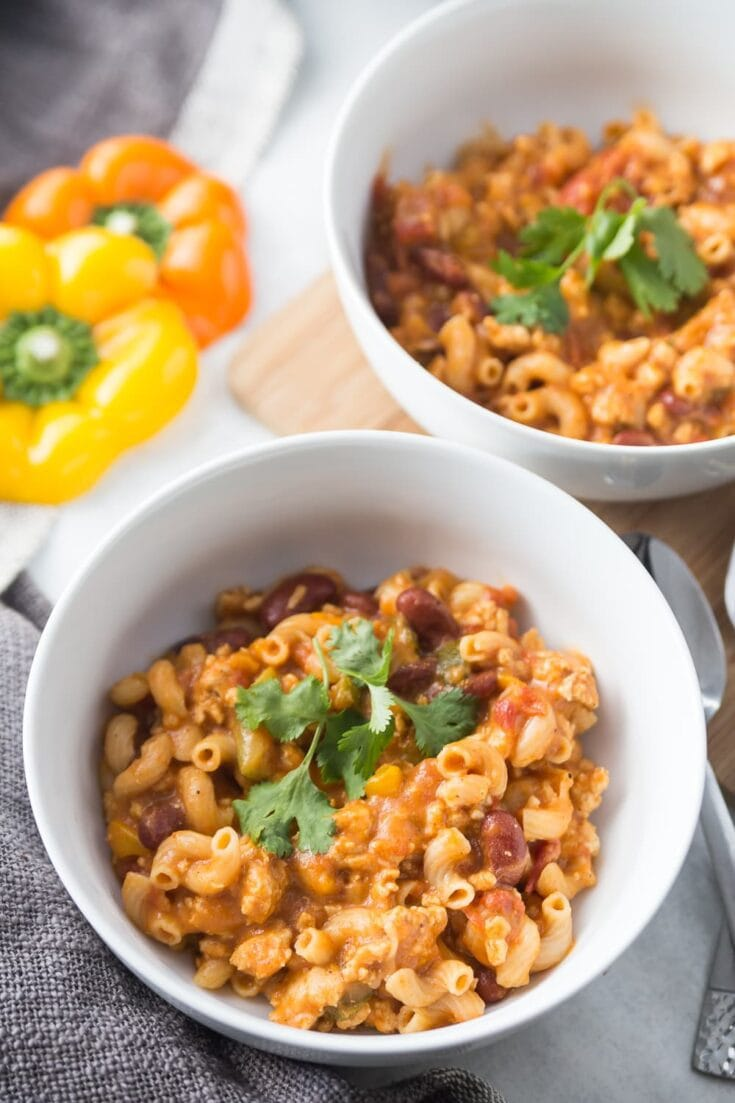 Healthy Instant Pot Chili Mac [21 Day Fix | Gluten-Free | StoveTop Option]