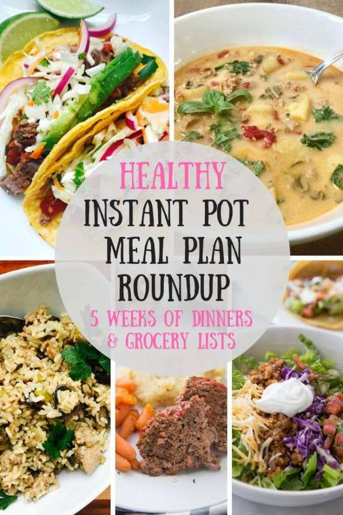 Looking for some Healthy Instant Pot Meal Plan Inspiration?  I have taken all of my favorite weekly Instant Pot Meal Plans and put them all right here for easy access!  Perfect for the 21 Day Fix, 2B Mindset, Weight Watchers, or anyone following a healthy, gluten free diet. 21 Day Fix Meal Plans | 2B Mindset Meal Plans | Healthy Instant Pot Meal Plans | Ultimate Portion Fix | Portion Fix Meal Plans | Weight Watchers Meal Plans