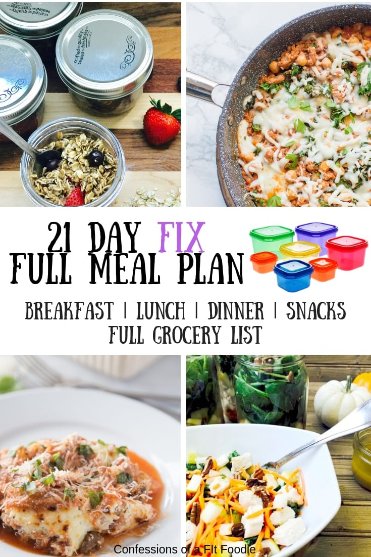 picture relating to 21 Day Fix Meal Planner Printable named 21 Working day Restore Evening meal Software Grocery Checklist 52 Jan-Oneself-ary 5-Working day