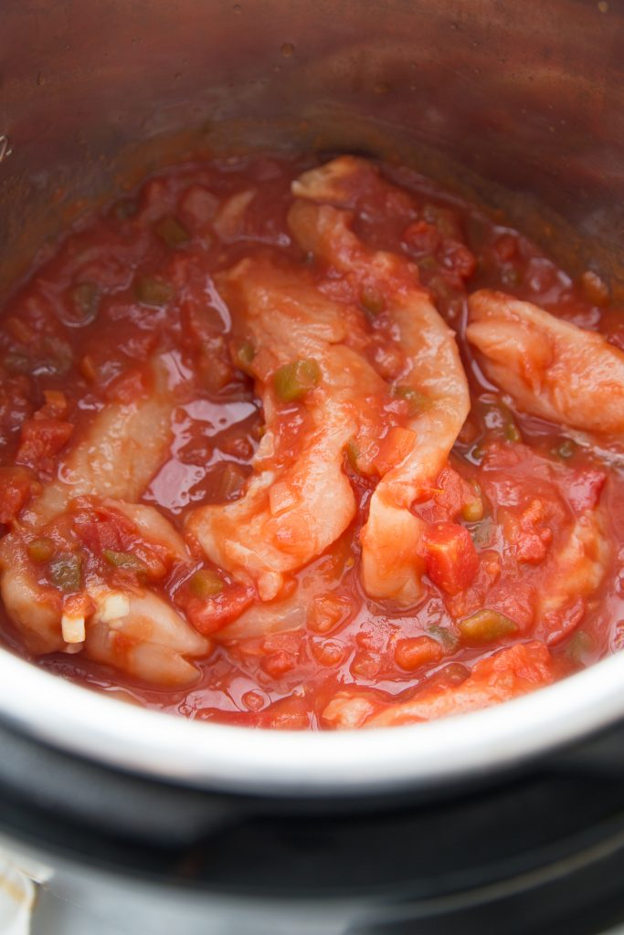 Chicken and Salsa in an Instant Pot