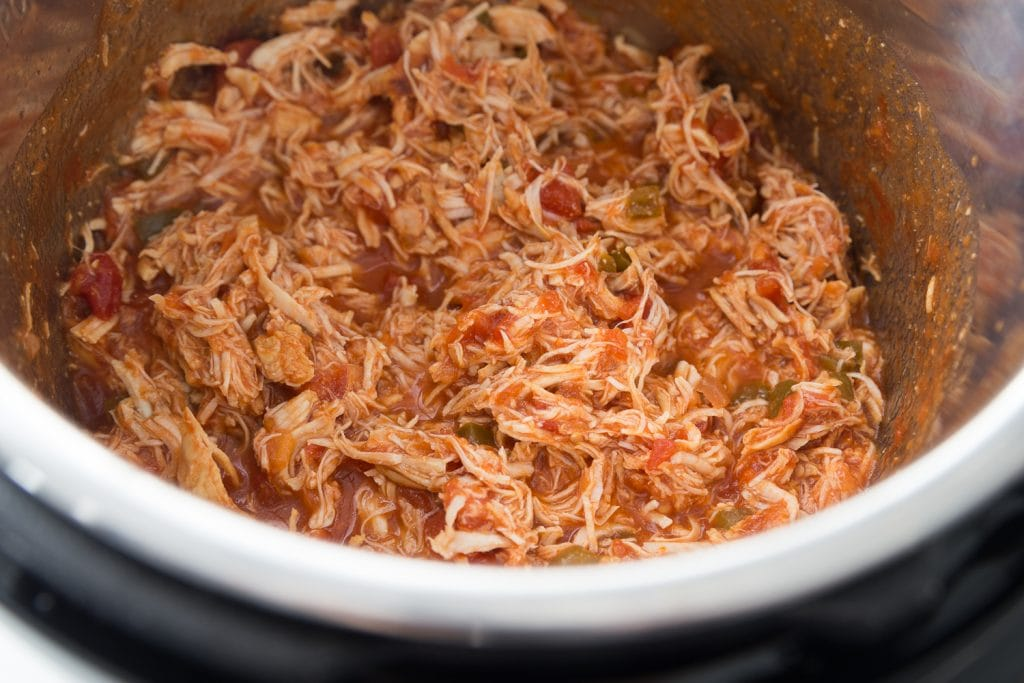 Shredded Salsa Lime Chicken in the Instant Pot