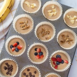 Healthy Banana Oatmeal Blender Muffins [Gluten-free | Dairy-free ] | 21 Day Fix Blender Muffins [Weight Watchers]