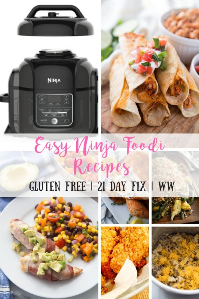 Are you searching for Ninja Foodi Recipes?  I have you covered with over 16 recipes that make perfect use of both the pressure cooker and the air fryer lid that come with the Ninja Foodi! 21 Day Fix Container Counts are included, and many have Weight Watchers Points, too!