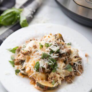 Instant Pot Zucchini Lasagna [CrispLid | Ninja Foodi Options]