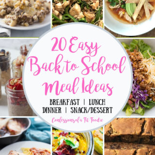 20 Easy Back to School Meal Ideas [21 Day Fix | Weight Watchers]