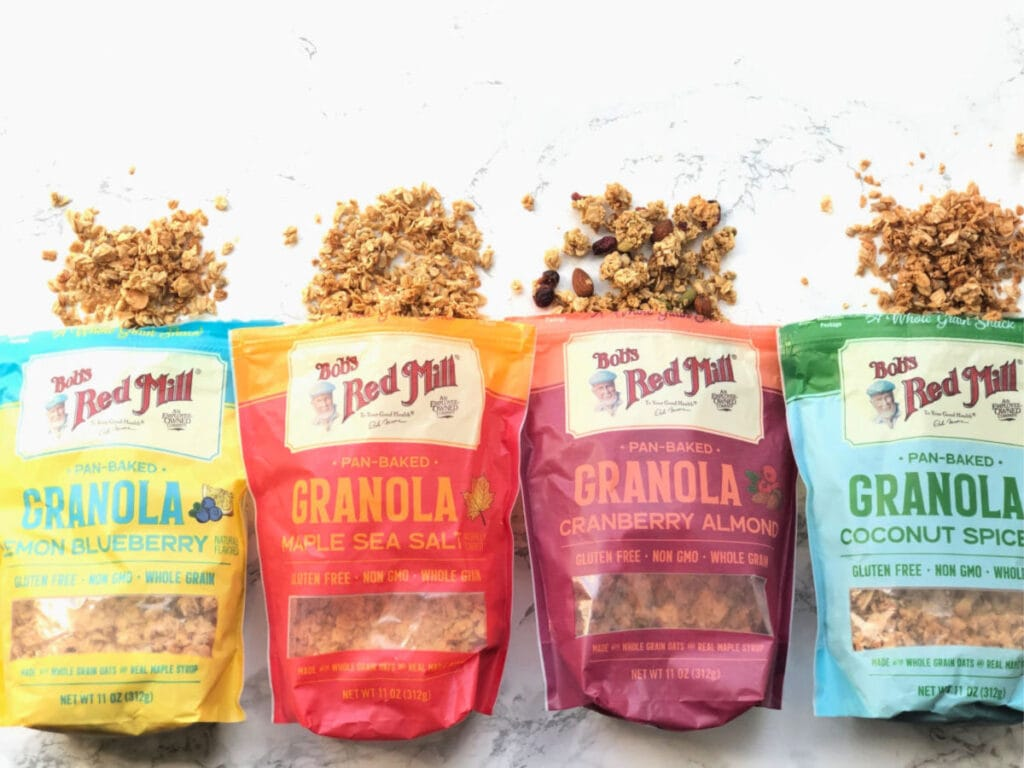 Four bags of Bob's Red Mill Granola
