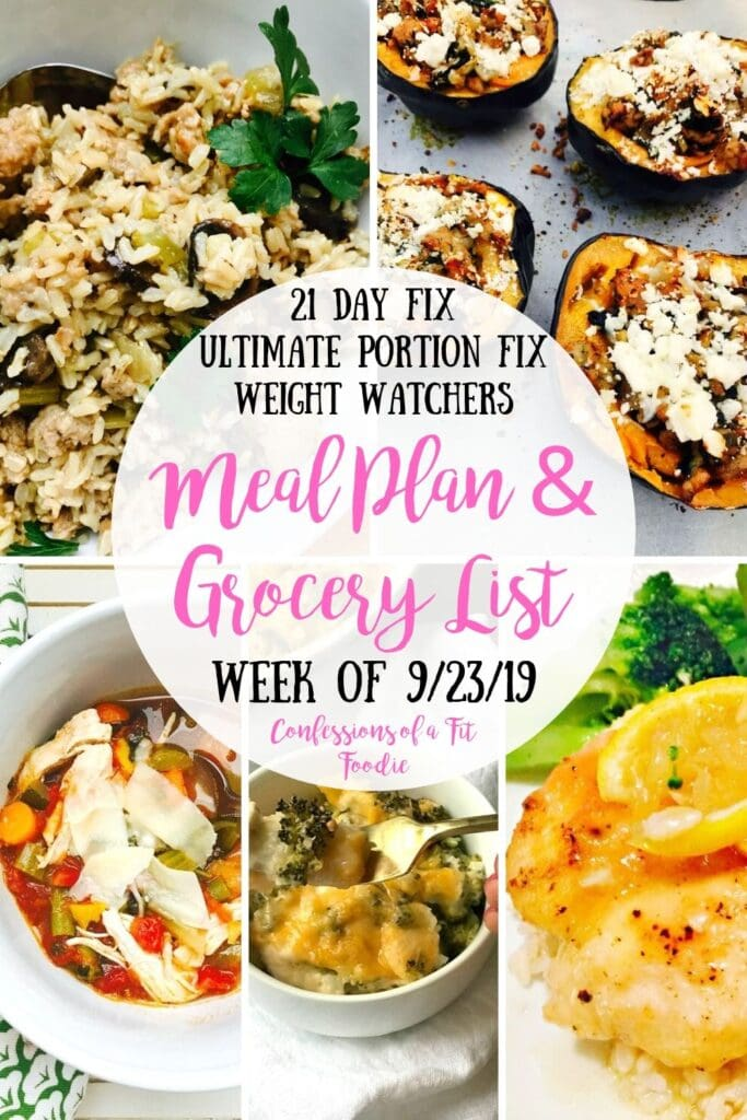 This 21 Day Fix Meal Plan has 5 easy recipes that are perfect for the 21 Day Fix and Weight Watchers…and great for the start of the fall! 21 Day Fix Meal Plan | 21 Day Fix Fall Recipes | Weight Watchers Meal Plan | Healthy Recipe Meal Plans #confessionsofafitfoodie