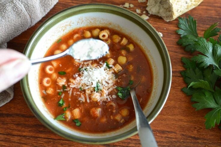Pasta Fagioli {21 Day Fix | Weight Watchers}