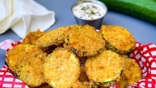 Easy Air Fryer Zucchini Chips + {VIDEO} | Stay Snatched